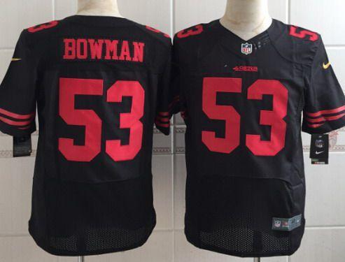 a9f2e7d1a6b Men s San Francisco 49ers  53 NaVorro Bowman 2015 Nike Black Elite Jersey