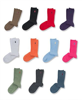 Men S Crew Socks Polo Ralph Lauren Socks Polo