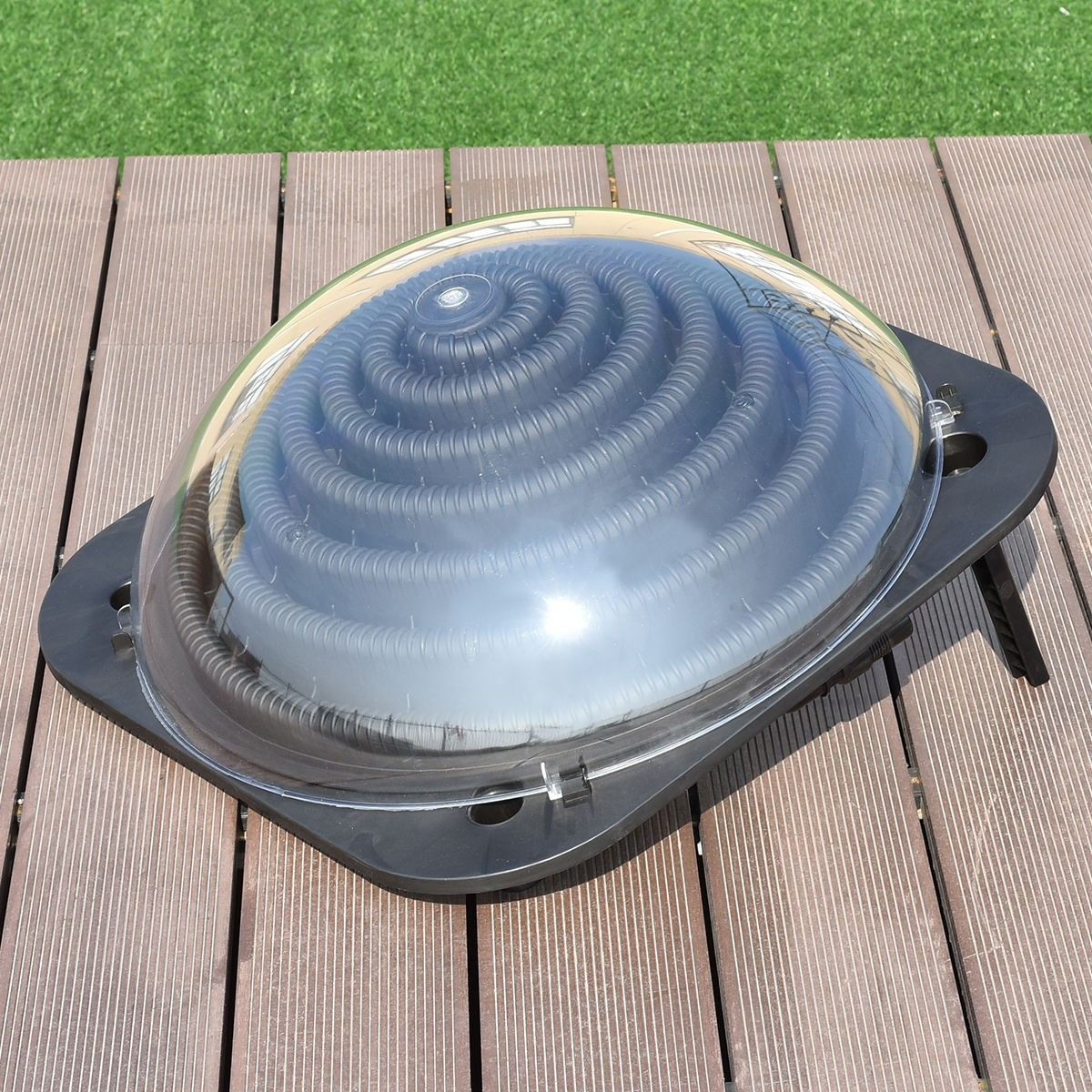 Black Outdoor Solar Dome Swimming Pool Water Heater