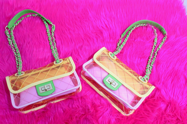 Chanel Style Transparent PVC HandBag NFL Clear Bag Summer Handbag Designer Fashion  Clear Handbag Multicolor Womens Flap Chain Crossbody Bag by ... 56338dd44ce24