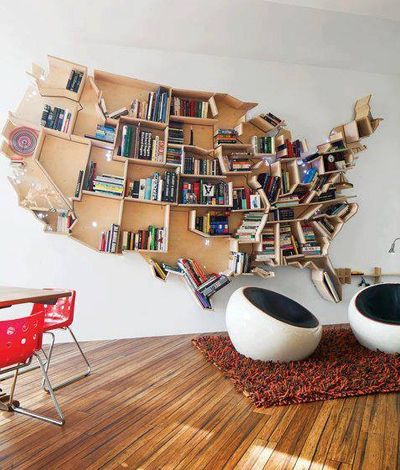 Awesome bookcase i would make one in the shape of the world map and awesome bookcase i would make one in the shape of the world map and put my favorite books from all over the world in gumiabroncs Image collections