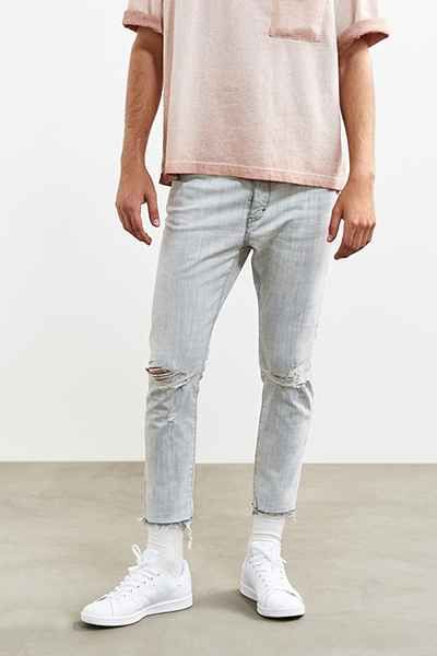 Neuw Cropped Destructed Ray Slim Jean Cropped Jeans Men Slim