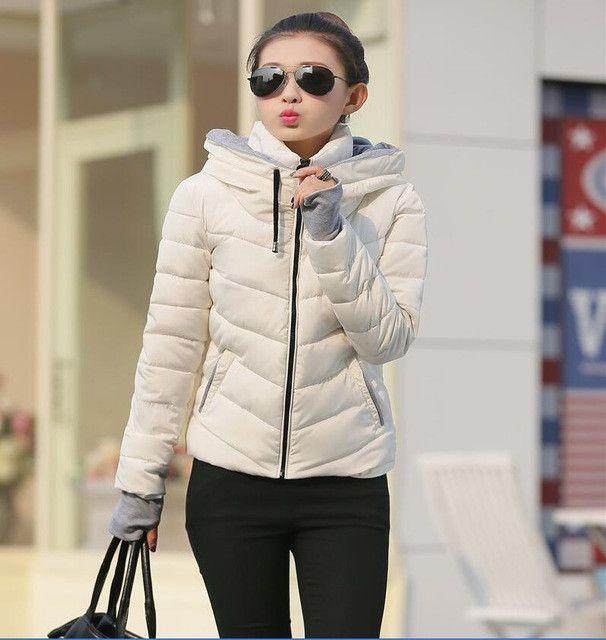 Fashion Jacket Coat Women Pakra 2016 Winter Coat Women Jacket Thickening Short Slim Ladies Coats Outerwear Jackets Female