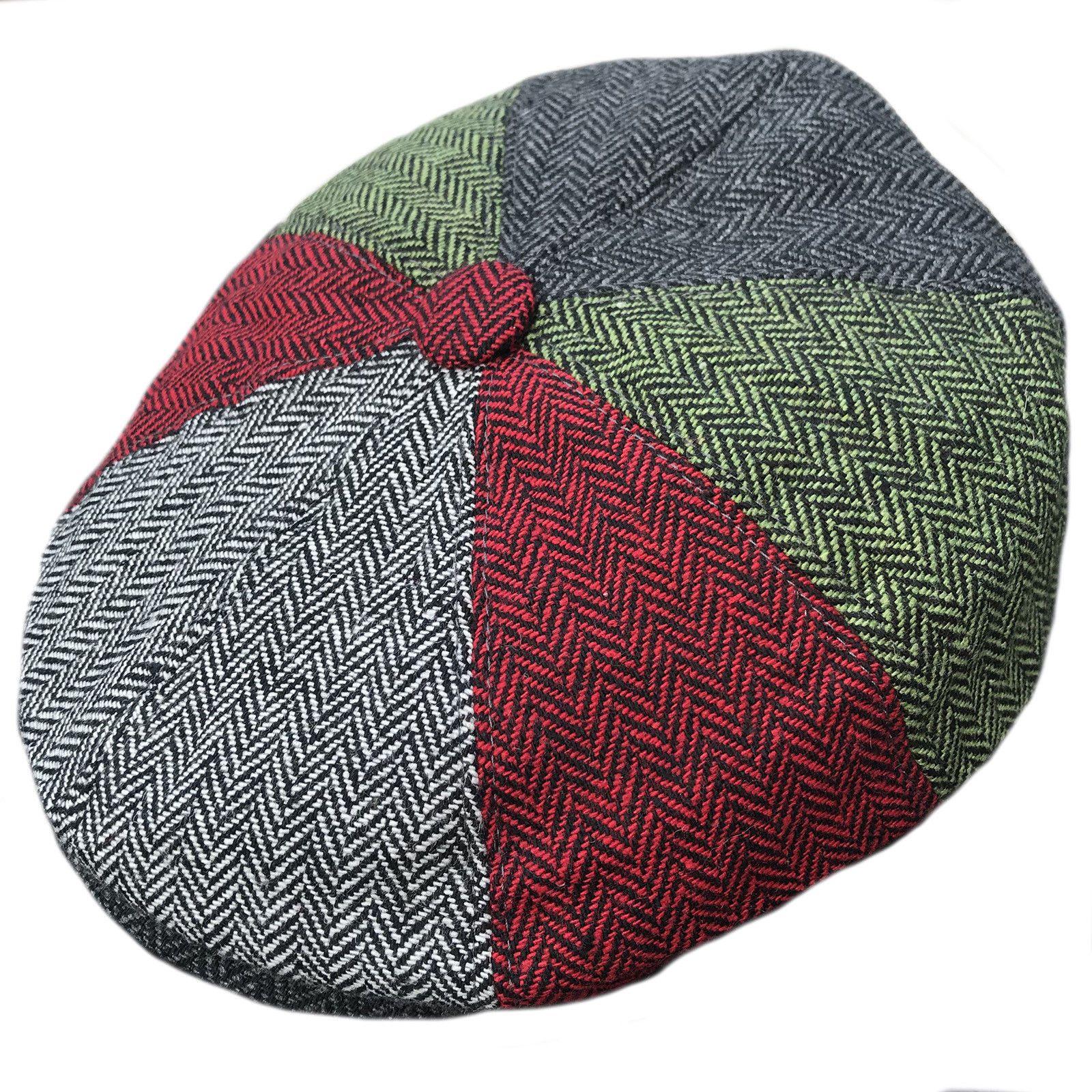 Mens Hats 163619  Gandh Multi Patch Herringbone Wool Newsboy 8 Panel Peaky  Blinders Style Flat Cap -  BUY IT NOW ONLY   14.49 on  eBay  gandh  multi   patch ... 0f66d922cee