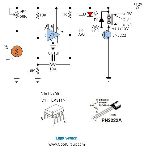 este  u00e9 um interruptor com sensor de luz  tamb u00e9m chamado de interruptor crepuscular  circuito de