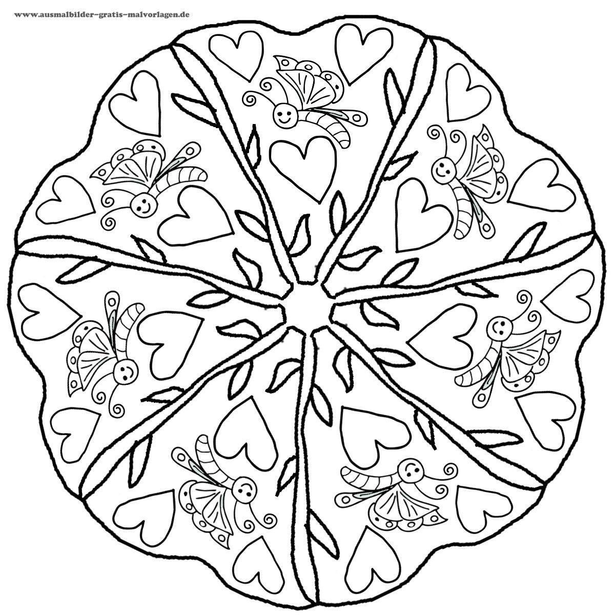 kostenlose Mandalas zum Download | Valentine\'s Day | Pinterest ...