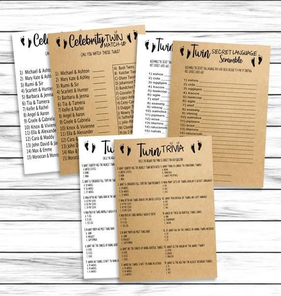 Twins Baby Shower Games Bundle, Baby Shower Twin Trivia, Twin Quiz, Twins Baby Shower Word Scramble, Celebrity, Rustic, Instant Download - #baby #Bundle #celebrity #Download, #games #instant #Quiz #rustic #Scramble #Shower #trivia #twin #twins #word