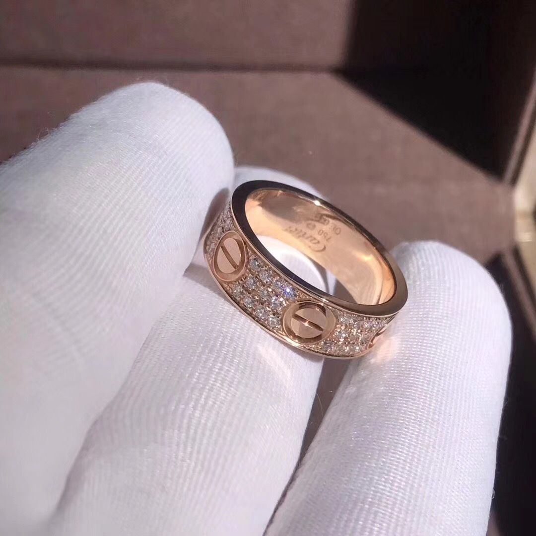 New Love Cross With Diamonds Couple Ring Titanium Steel Men And Women On The Ring Wedding Ring Tail Ring Rose Gold Jewelry In 2020 Cartier Love Ring Cartier Love Ring Diamond