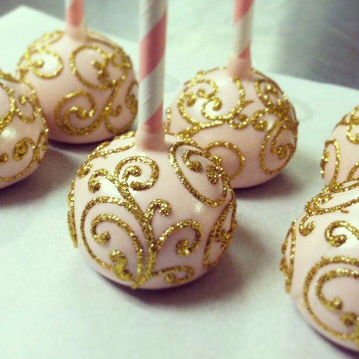 white cake pops with gold cakepops kuchen backen en cake pops. Black Bedroom Furniture Sets. Home Design Ideas