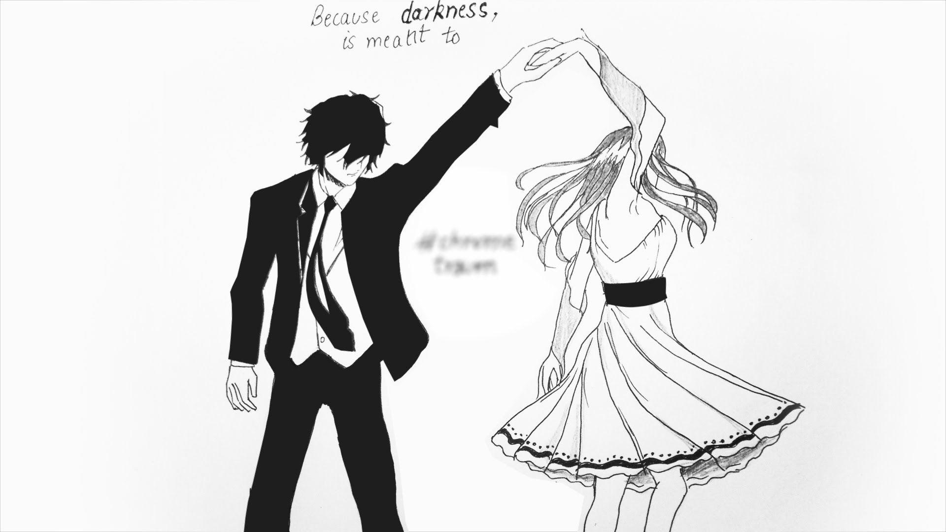 Hand Drawn Dancing Couples ChromeTraum 1 (Speed Drawing