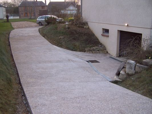 descente de garage en beton lave ou desactive 36 With descente de garage en beton desactive