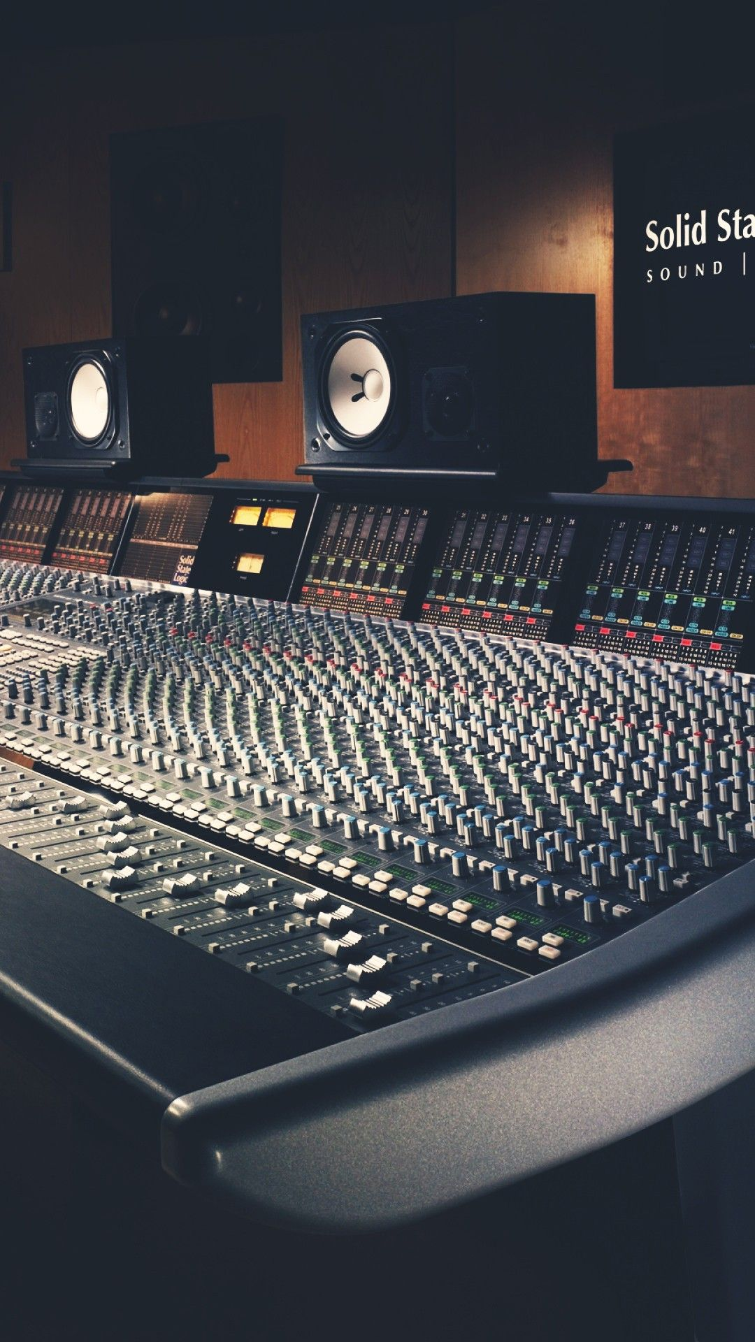Audio Mixer Machine Speakers Studio Smartphone Wallpaper