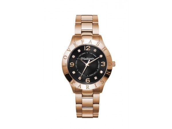 Analoog rosé goud Fashion unisex horloge model Sierra met rosé goud horlogeband