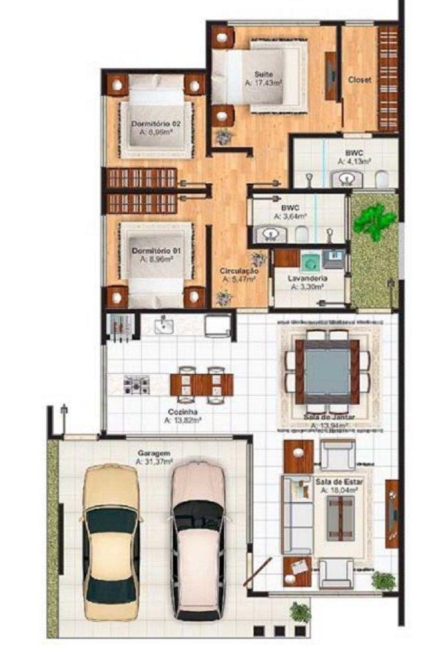 Plano de casa de 250 m2 planos en 2019 house plans for Casa moderna 140 m2