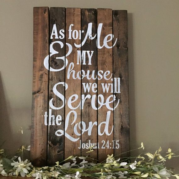 As For Me And My House Wall Art as for me and my house we will serve the lord sign joshua 24:15