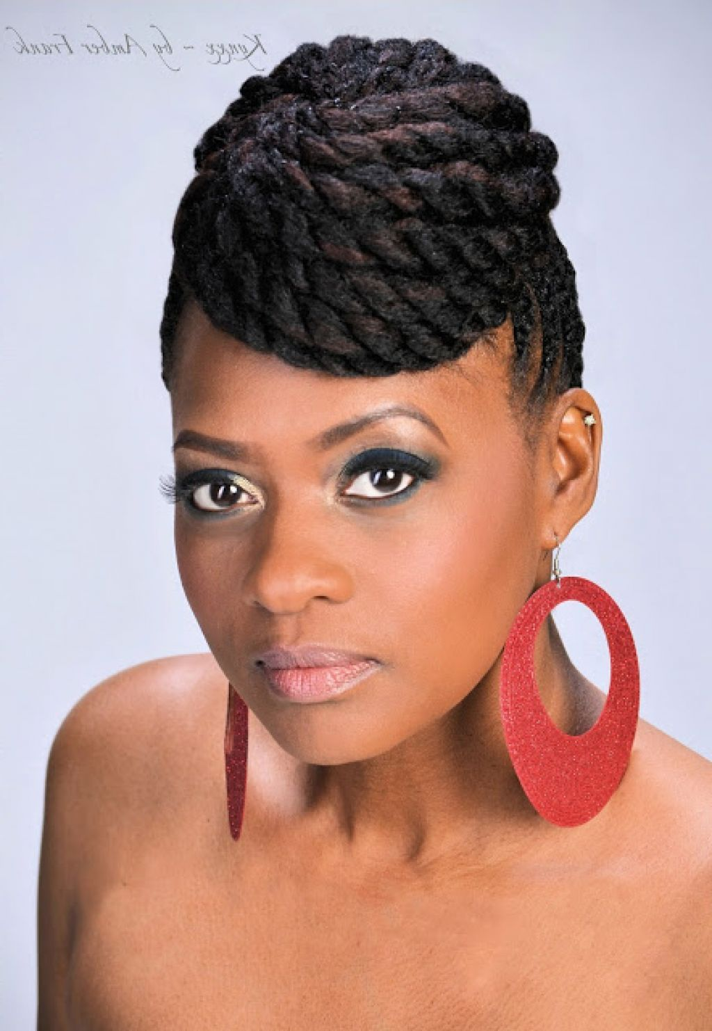 Mohawk Braid Styles Black Women African Hairstyle Women