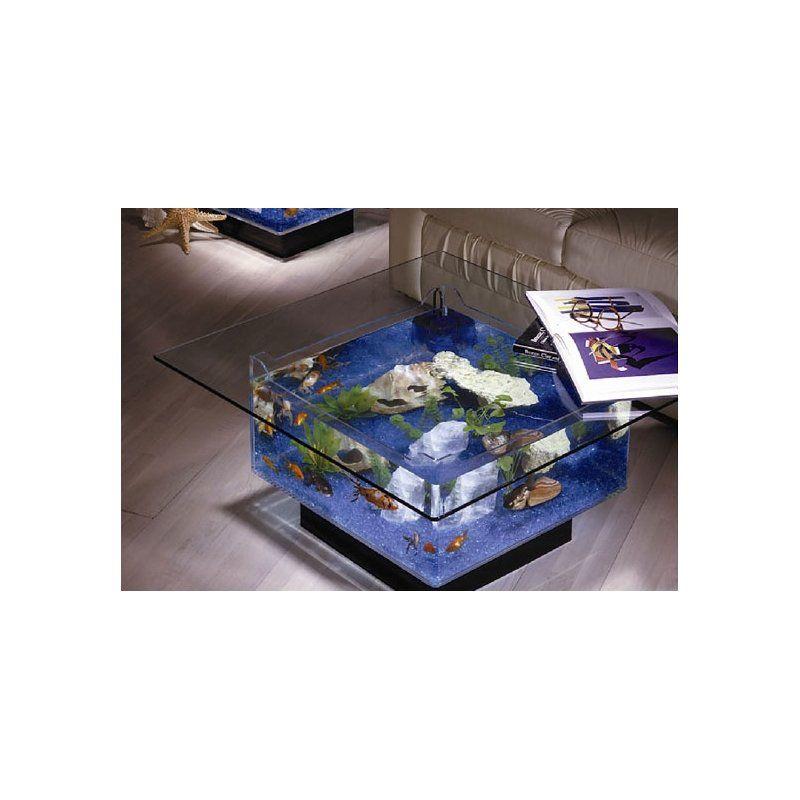 Featuring A Simple Yet Elegant Design The Midwest Tropical Fountain - 25 gallon aqua coffee table aquarium tank