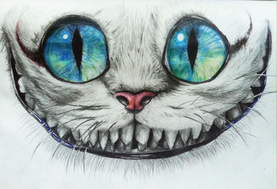 Easy Drawing Of Cheshire Cat Face Google Search Dessin Chat