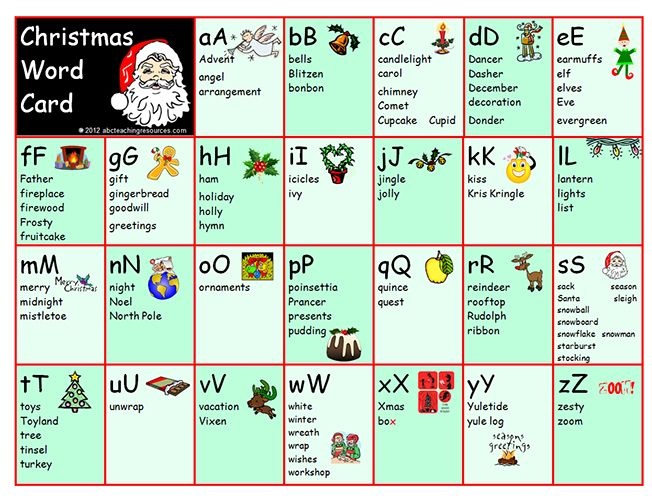 Christmas Words A Z.Pin On Abc Christmas