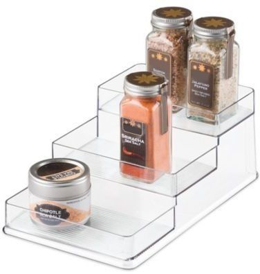 Bed Bath And Beyond Spice Rack Pleasing Interdesign 3Tier Stadium Spice Rack Organizer  Kitchen Equipment Inspiration Design