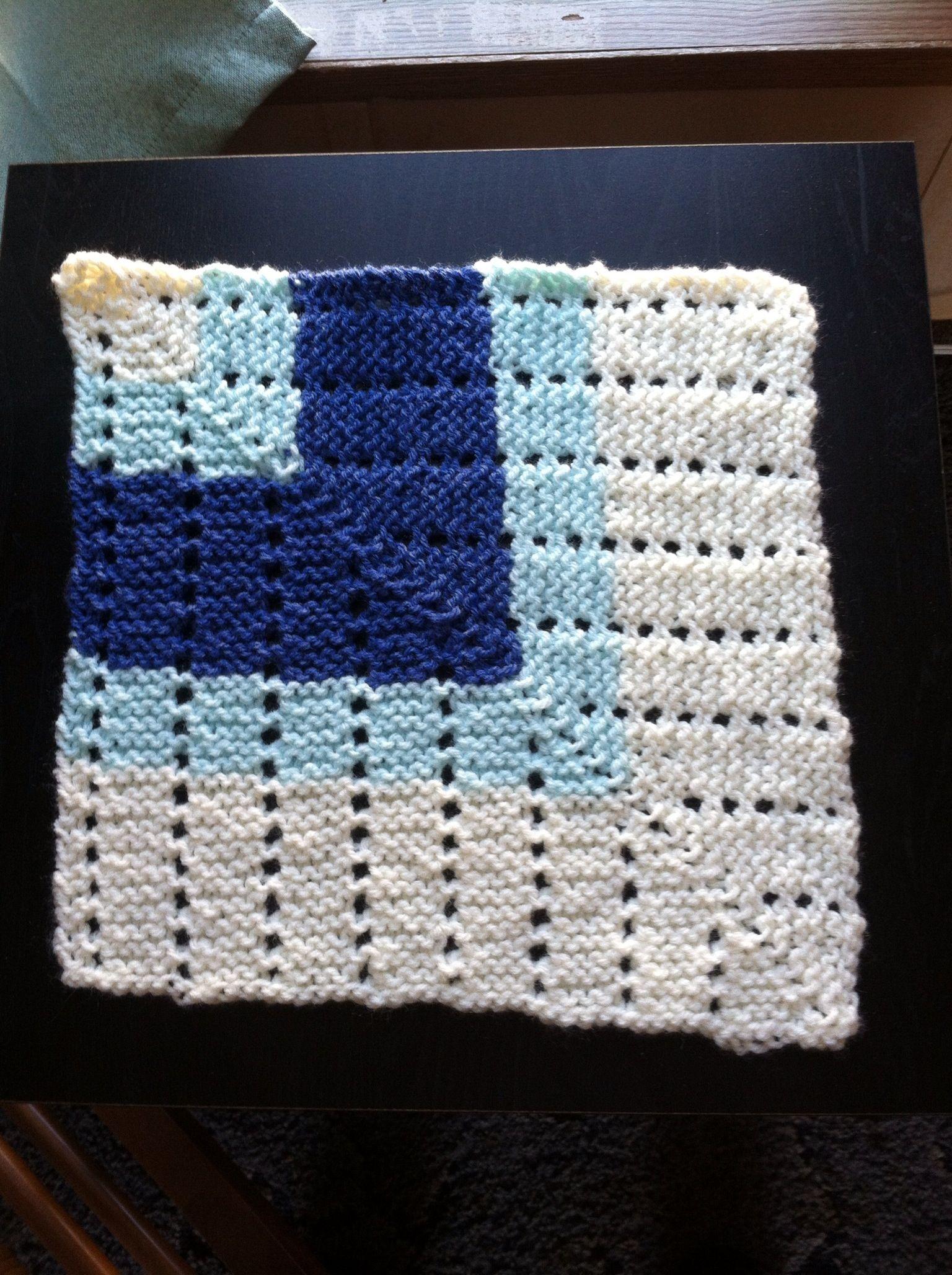 Knit miter square   Mitered squares   Pinterest   Squares, Crochet ...