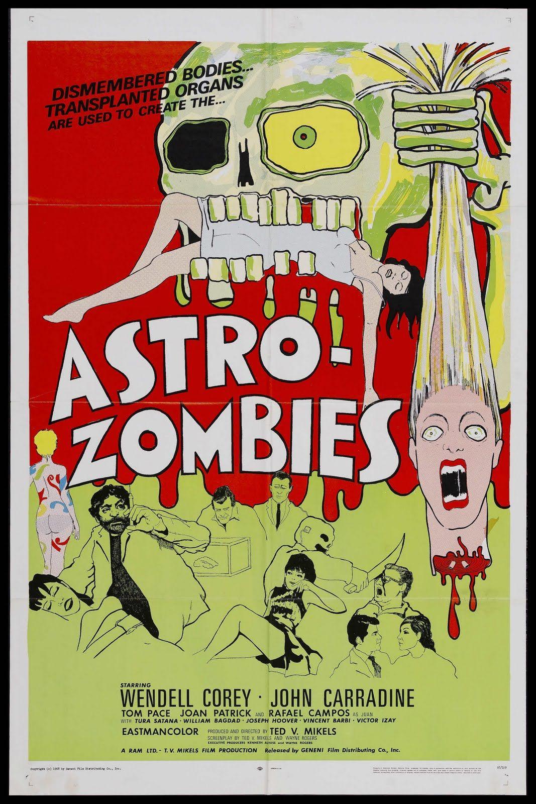 Astro Zombies vintage Horror movie poster 24x36