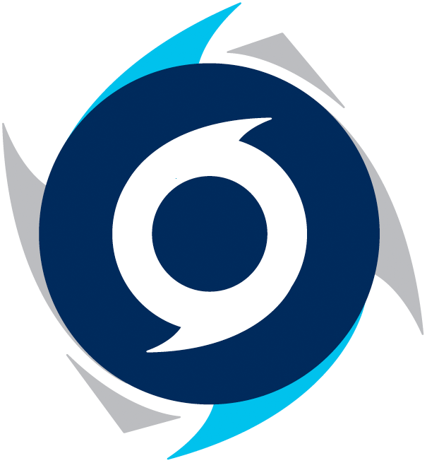 Halifax Hurricanes Primary Logo 2016 A Double Blue And Silver
