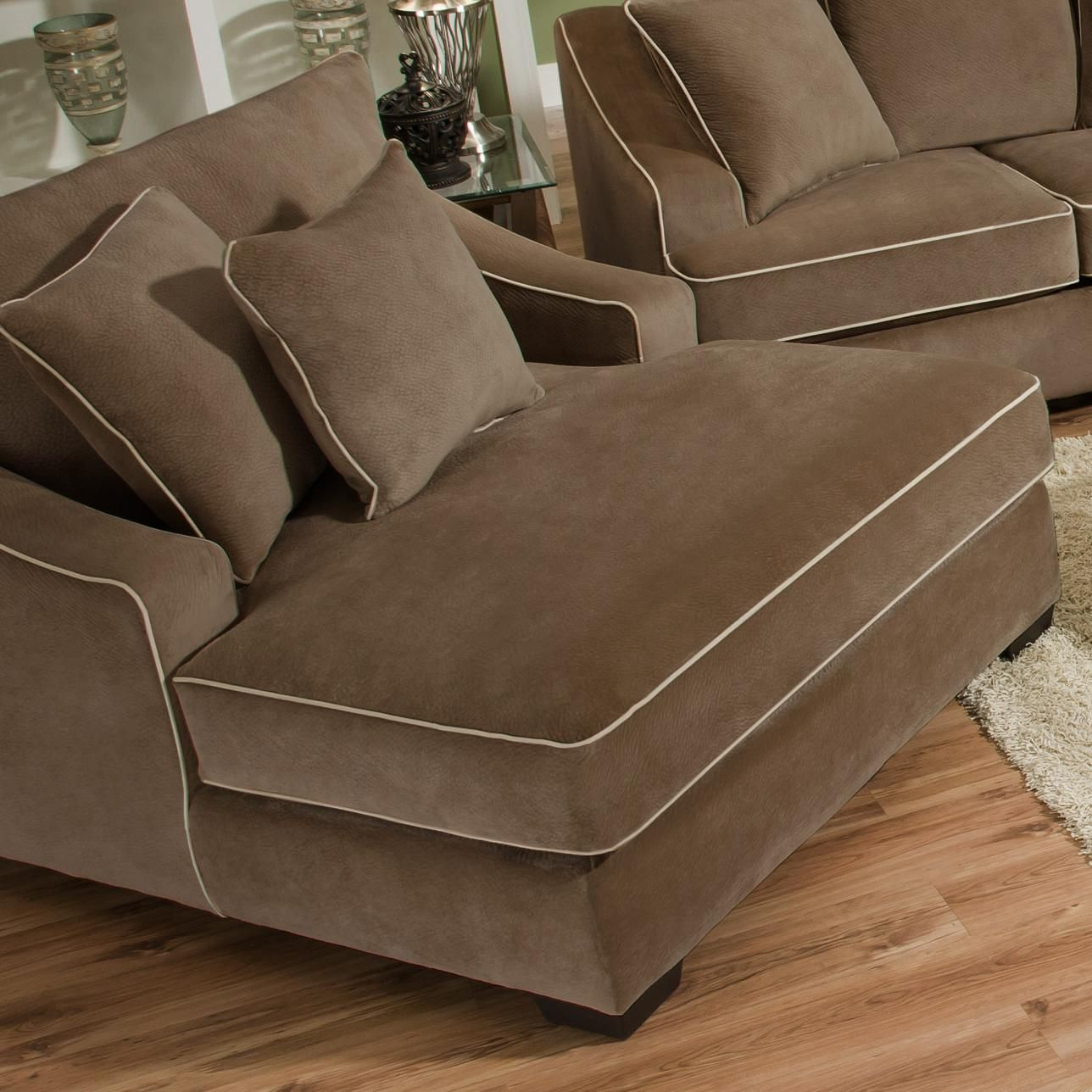 4220 extra large and comfy chaise for casual living room style by corinthian knoxville Extra large living room chairs