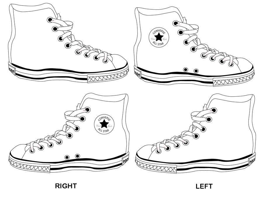 Complete Converse Template by ~AppleSpirit on deviantART | Art ...