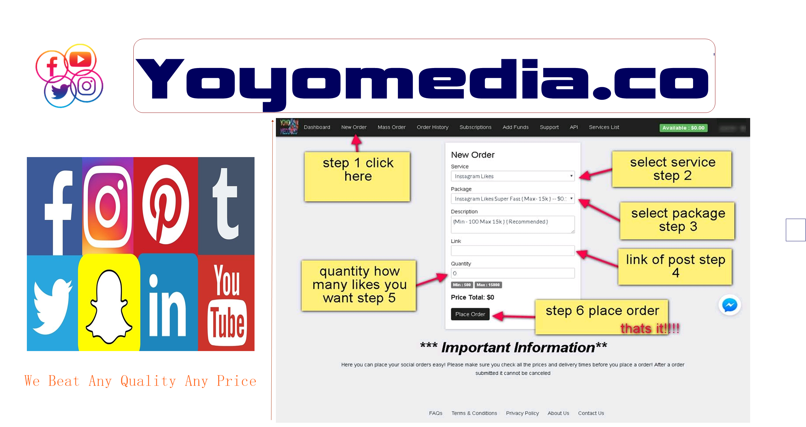 yoyo media is oldest and trustful cheapest reseller panel we provide