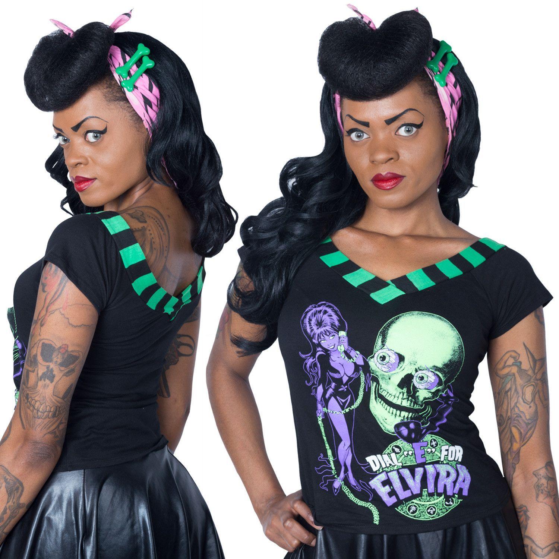 Elvira Dial E For V Shoulder Tee