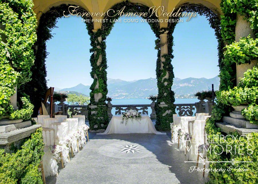 Wedding Ceremony At Villa Balbianello Loggia Durini Arched Picture By Steve