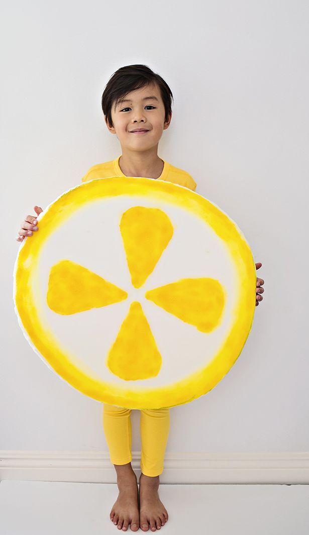Easy DIY Lemon Costume for Kids. Cute last minute Halloween costume!  sc 1 st  Pinterest & EASY DIY LEMON COSTUME FOR KIDS | Pinterest | Halloween costumes ...