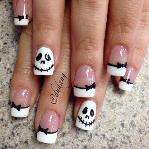 50 Cool Halloween Nail Art Ideas | Pinterest | Jack skellington ...