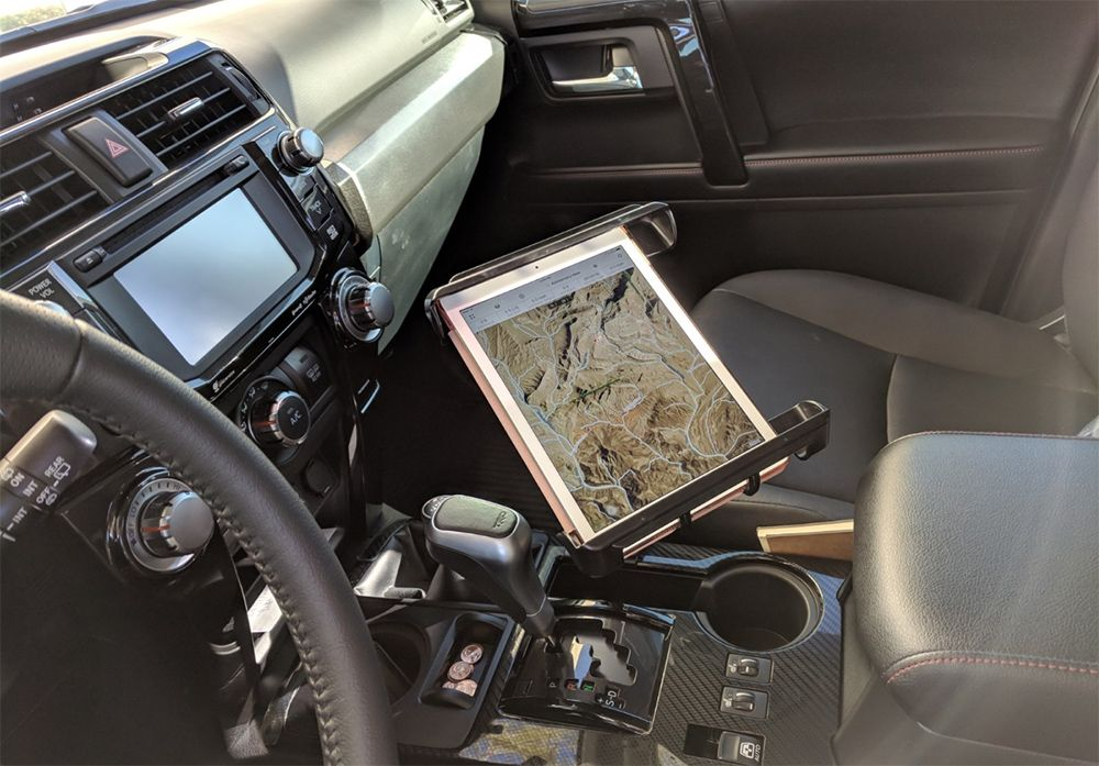 Non Drill Gps Mount For Tablet On 5th Gen 4runner Ipad Mount