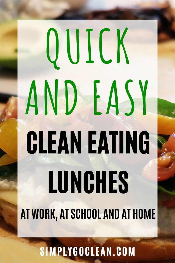 Quick and Easy Clean Eating Lunch Ideas images
