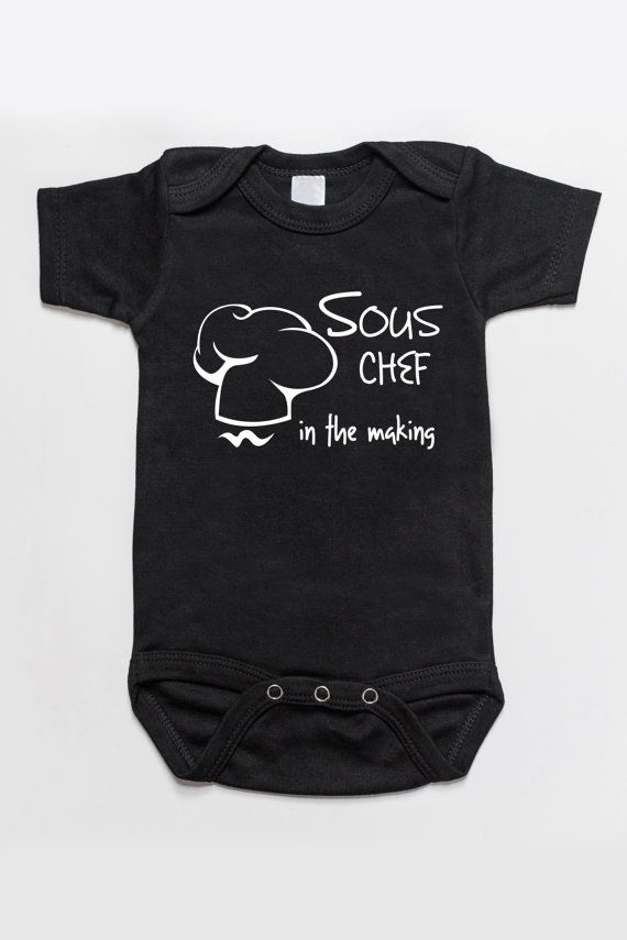 Sous Chef In The Making Baby Bodysuit Romper Black Baby Onesies Baby Bodysuit Black Onesie