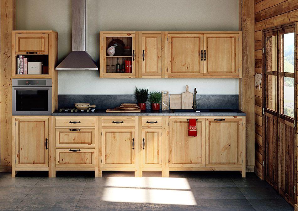 meubles de cuisine en pin massif