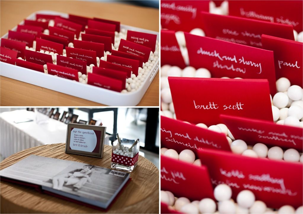 cute idea for place cards (but in plum!)