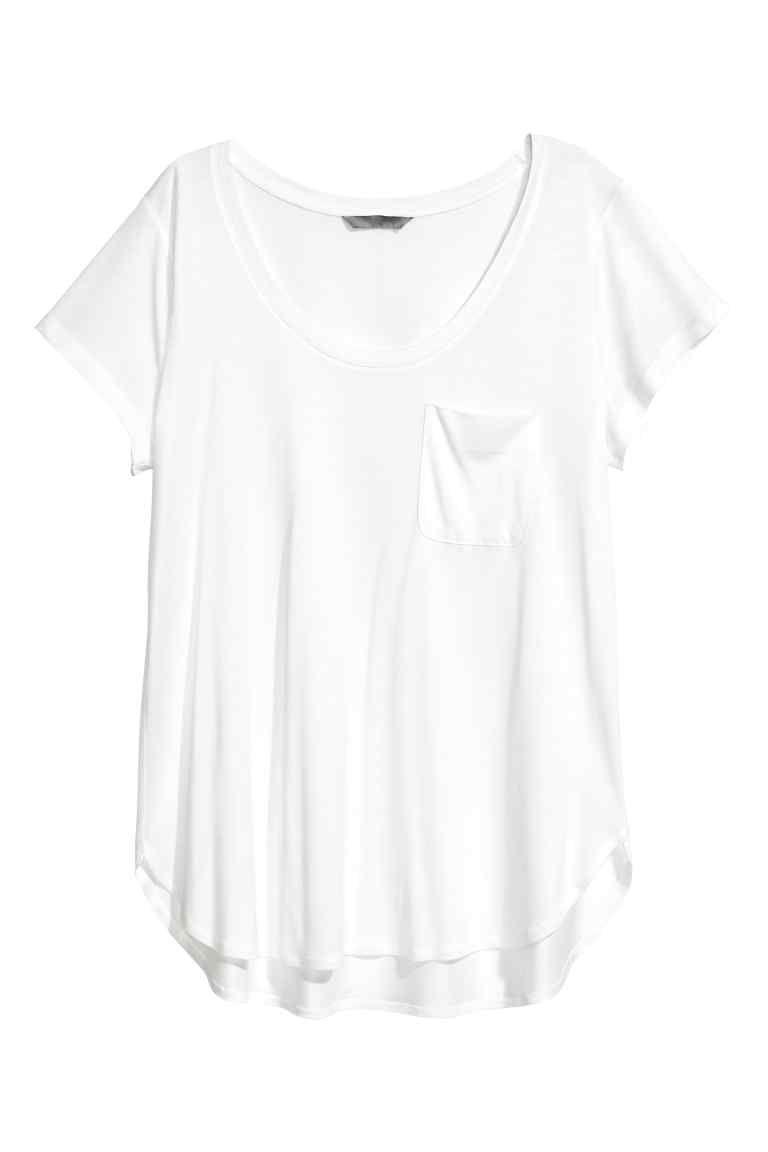 5205eaf603f070 Tricot T-shirt - Wit - DAMES