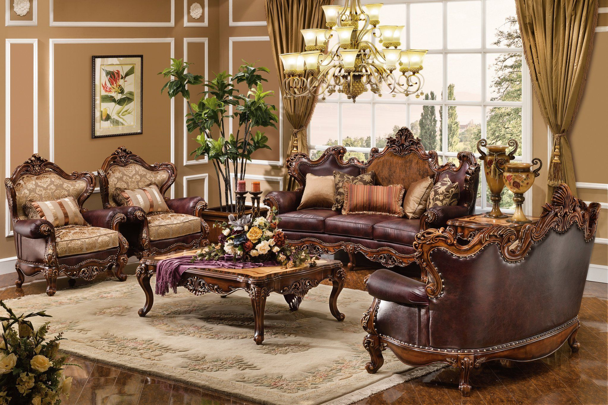 luxury upholstered formal living room furniture traditional sofa