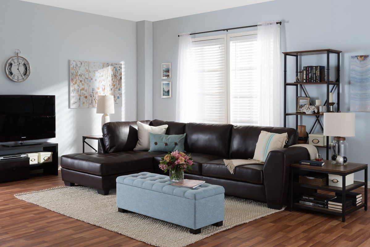 Peachy Ehrlich Sectional Decor In 2019 Sectional Sofa Leather Uwap Interior Chair Design Uwaporg