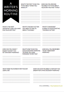Routines for Writers (Writer Worksheet Wednesday)