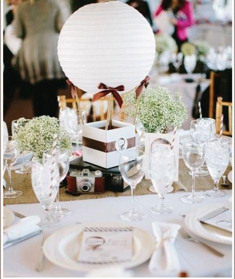 Photography Bloombox Wedding Hot Air Balloon Centerpiece - küche deko wand