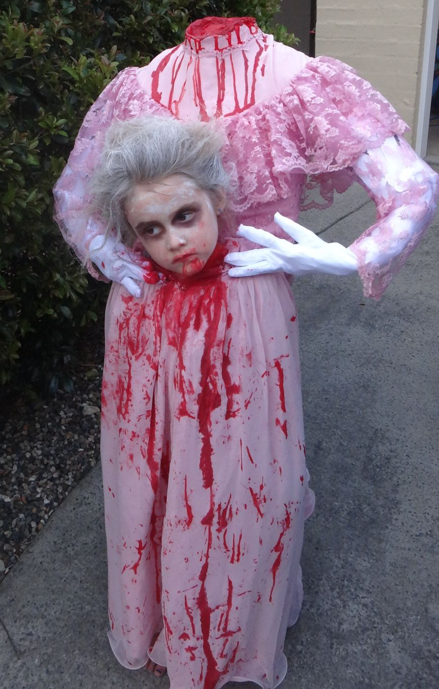 Girls Headless Halloween costume, made by Mum! | Halloween ...