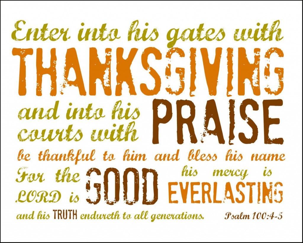 Free printable to include in letter psalm 1004 5 printable cards for thanksgiving 2014 event kristyandbryce Choice Image
