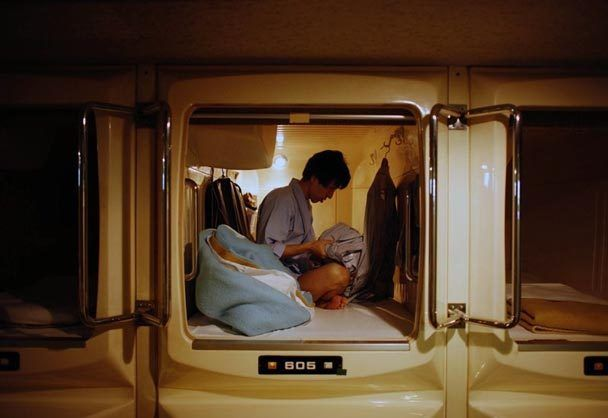 The Seattle Times Tiny Capsule Hotels House The Homeless In Japan