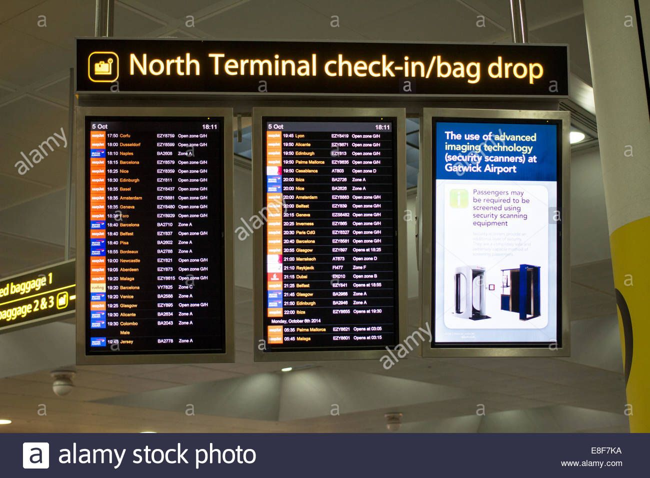 Download This Stock Image London Gatwick North Terminal Departure