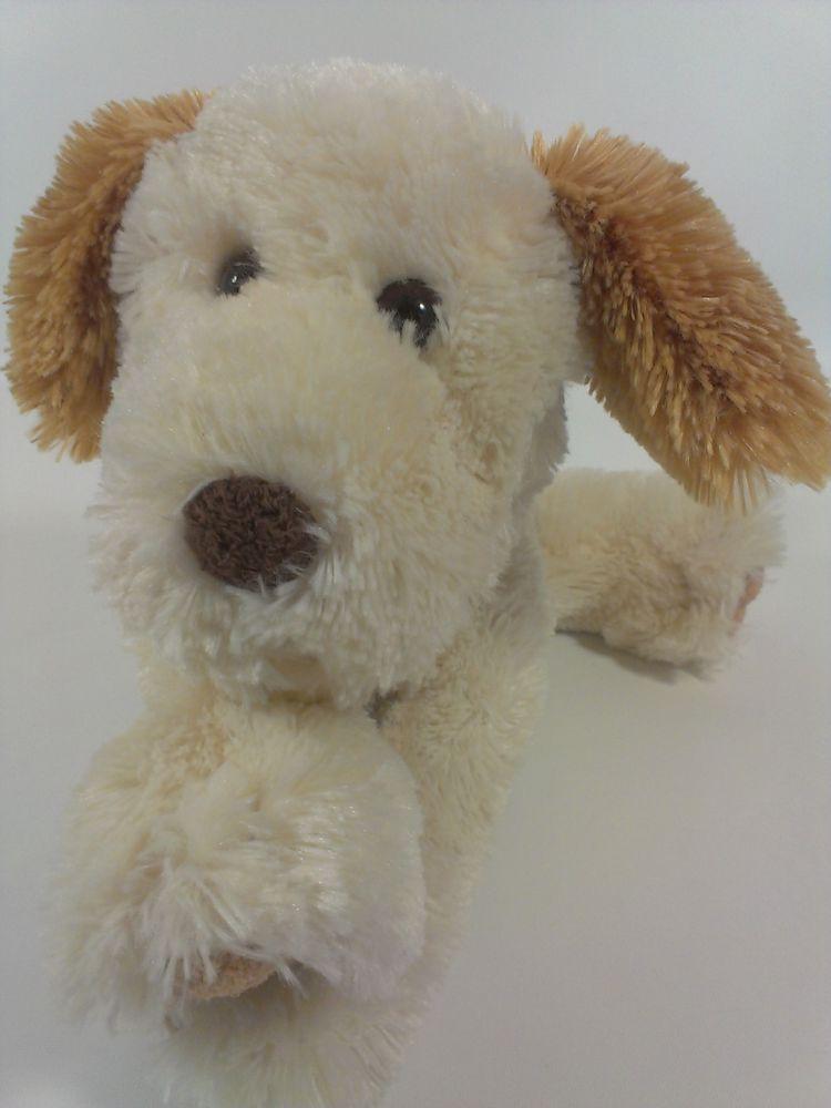 Commonwealth Puppy Dog Plush Floppy Brown Cream Stuffed