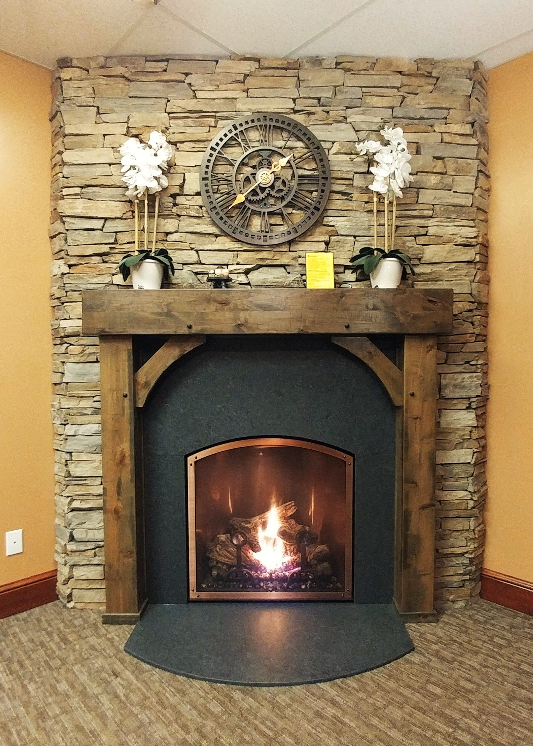 "From our showroom...Mendota ""FV41 Arch"" gas fireplace with"